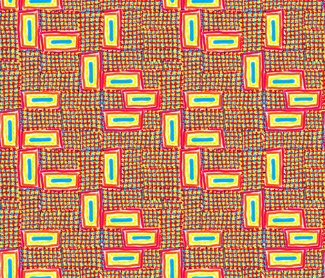 Sunny Rectangles fabric by anniedeb on Spoonflower - custom fabric