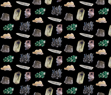 Raw gemstones fabric by ultrapacifist on Spoonflower - custom fabric