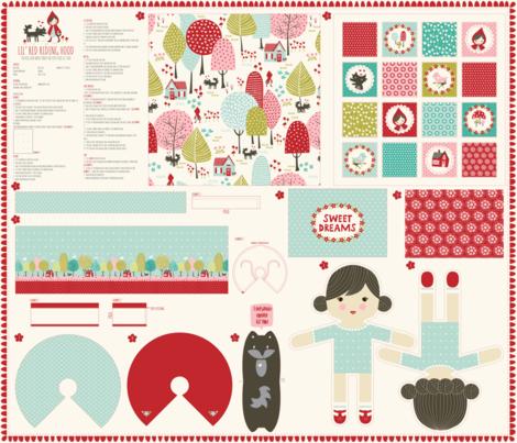 1_yard_doll_template_LIL_RED fabric by stacyiesthsu on Spoonflower - custom fabric