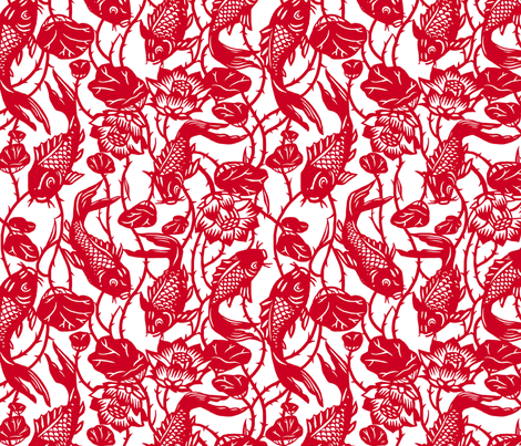 Magic Carp fabric by theinklab on Spoonflower - custom fabric