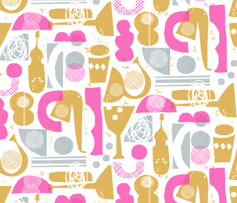 funky jazz fabric by ottomanbrim on Spoonflower - custom fabric