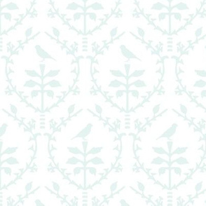 Bird damask in mint