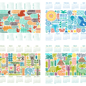 tea towel calendar collection 2015