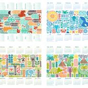 tea towel calendar collection 2015