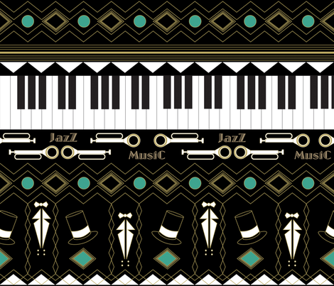 Jazz_age fabric by yasminah_combary on Spoonflower - custom fabric