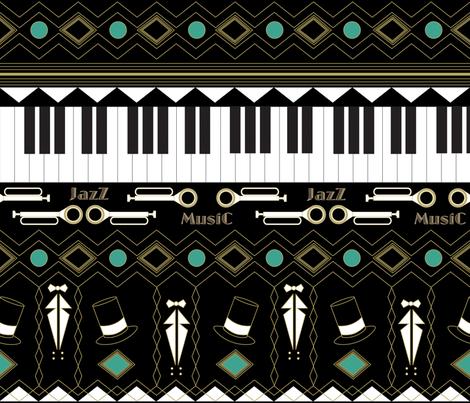 Jazz_age fabric by yazooky on Spoonflower - custom fabric