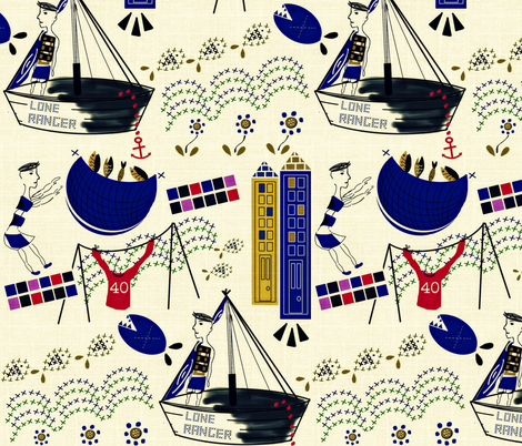 Lone Ranger fabric by susan_polston on Spoonflower - custom fabric