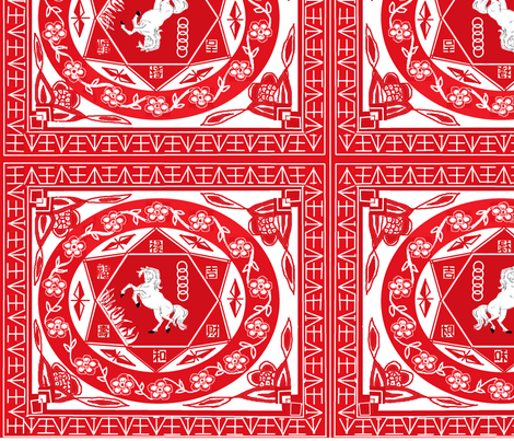 chinese paper cutting fabric by arvil on Spoonflower - custom fabric
