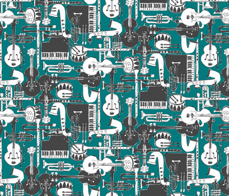 weave jazz teal fabric by scrummy on Spoonflower - custom fabric