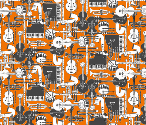 weave jazz orange fabric by scrummy on Spoonflower - custom fabric