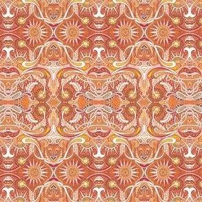 Scallop Paisley Autumn Suns