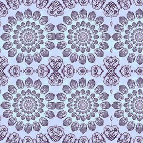 Lavender Buddha Heads