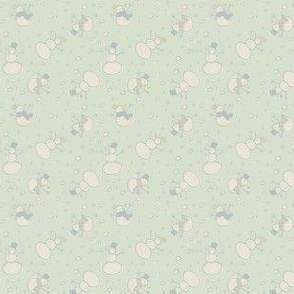Christmas snowmen - colorway 1