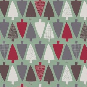 Christmas trees - colorway 2