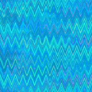 zigzag in ocean blue