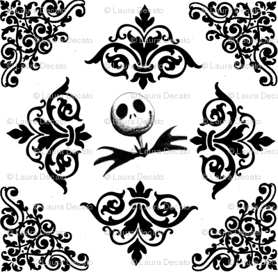 Jack Skellington Damask