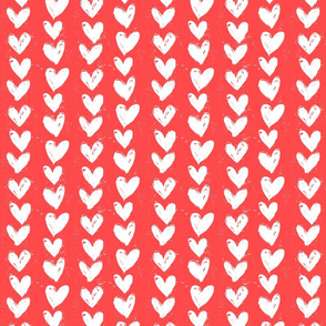 rows of hearts