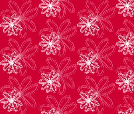 flower_burst_Red fabric by stickelberry on Spoonflower - custom fabric