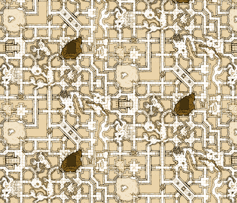 Geomorphic Dungeon Map Small fabric by billiambabble on Spoonflower - custom fabric