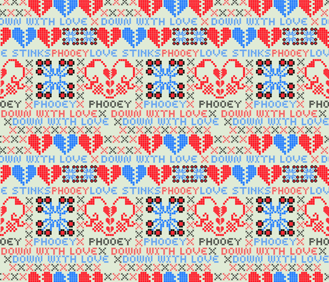 Down with Love fabric by vinpauld on Spoonflower - custom fabric