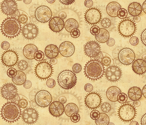 TimeAfterTime fabric by gharada on Spoonflower - custom fabric