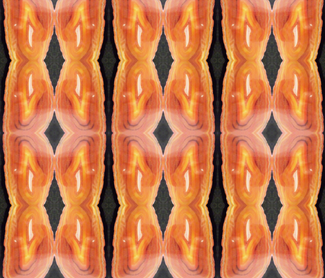 Orange you glad I said Geode? fabric by cafethreefeathers on Spoonflower - custom fabric