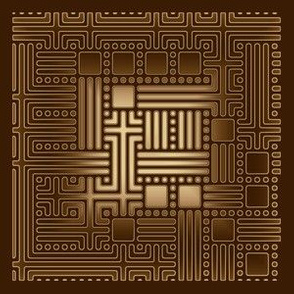 Brown and Bronze Maze © Gingezel™