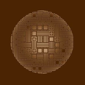Bronze Maze Circles on Brown © Gingezel™