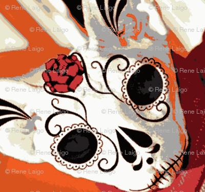 Sphynx Sugar Skull Cat