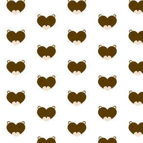 Woodland Friend Heart Brown Bear