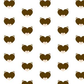 Woodland Friend Heart Brown Bear