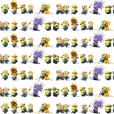 Small Line of Minions fabric by sunflowerfreckles on Spoonflower - custom fabric