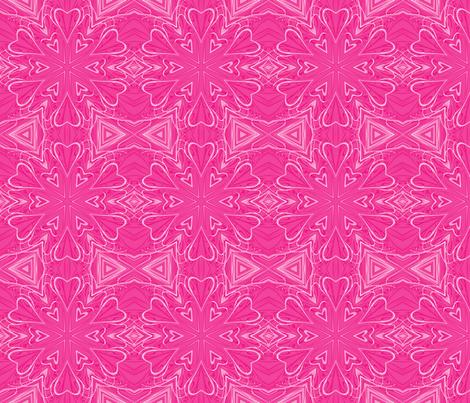 Pink Hearts Abstract