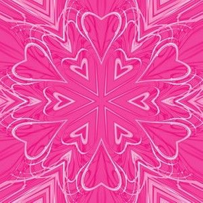 Pink Hearts Abstract