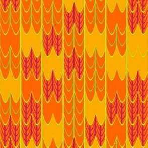 Bright Orange and Yellow Mosaic
