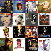 Bowie Album Cover Collage