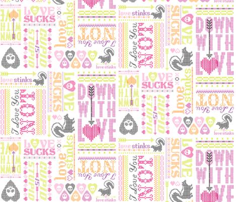 Cross My Heart fabric by tonia_dee on Spoonflower - custom fabric