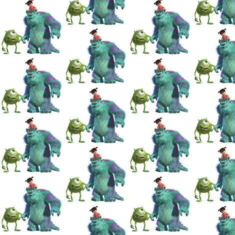 Monsters fabric by sunflowerfreckles on Spoonflower - custom fabric