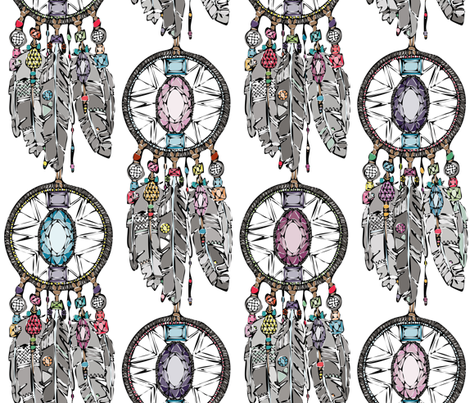 gemstone dreamcatcher fabric by scrummy on Spoonflower - custom fabric