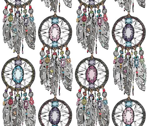 gemstone dreamcatcher fabric by scrummy on Spoonflower - custom fabric