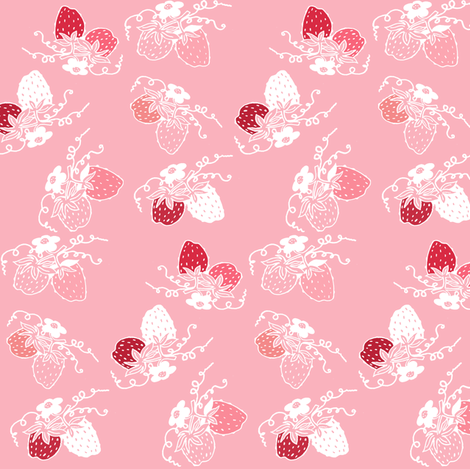 Very Strawberry fabric by graceful on Spoonflower - custom fabric