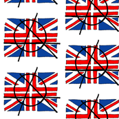 Anarchy Union Jack Flag