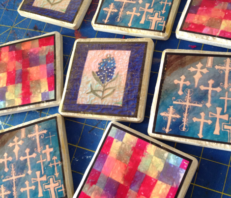 Coasters to decoupage