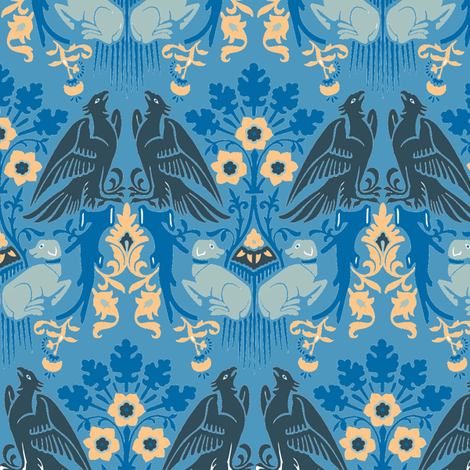 dragon deco fabric by craftyscientists on Spoonflower - custom fabric