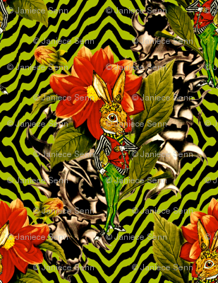 The march hare wallpaper whimzwhirled spoonflower for March hare wallpaper