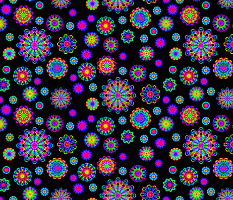 Kaleidoscope flowers fabric by ashleyamandadesigns on Spoonflower - custom fabric