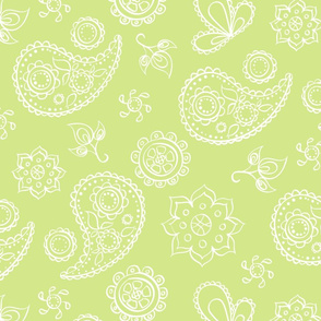 Pretty Paisley Please - green