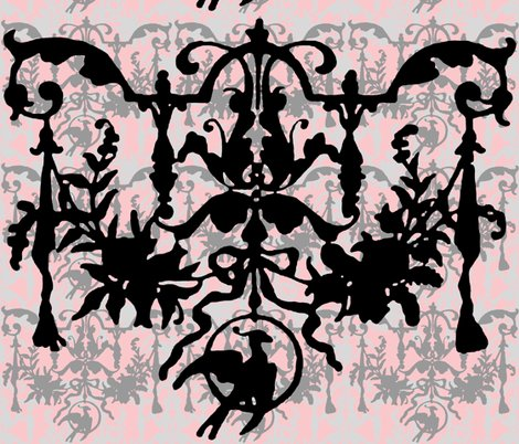 R1892_bird_on_a_wire_damask___dauphine_with_black__wilver_leaf_and_pewter_shop_preview
