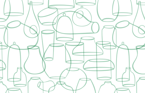 Terrarium Containers by FRIZTIN fabric by friztin on Spoonflower - custom fabric