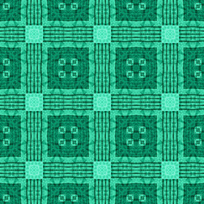 Patchwork in Deep Turquoise: Almost Plaid